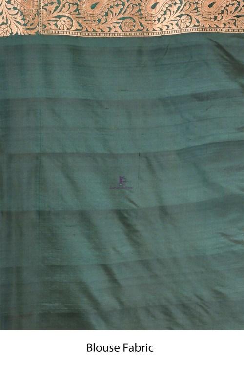 Handloom Uppada Banarasi Katan Silk Saree with Running Blouse Fabric 7