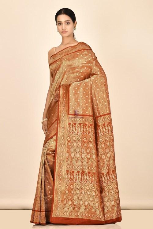 Tanchoi Handloom Banarasi Katan Silk Saree with Running Blouse Fabric 5