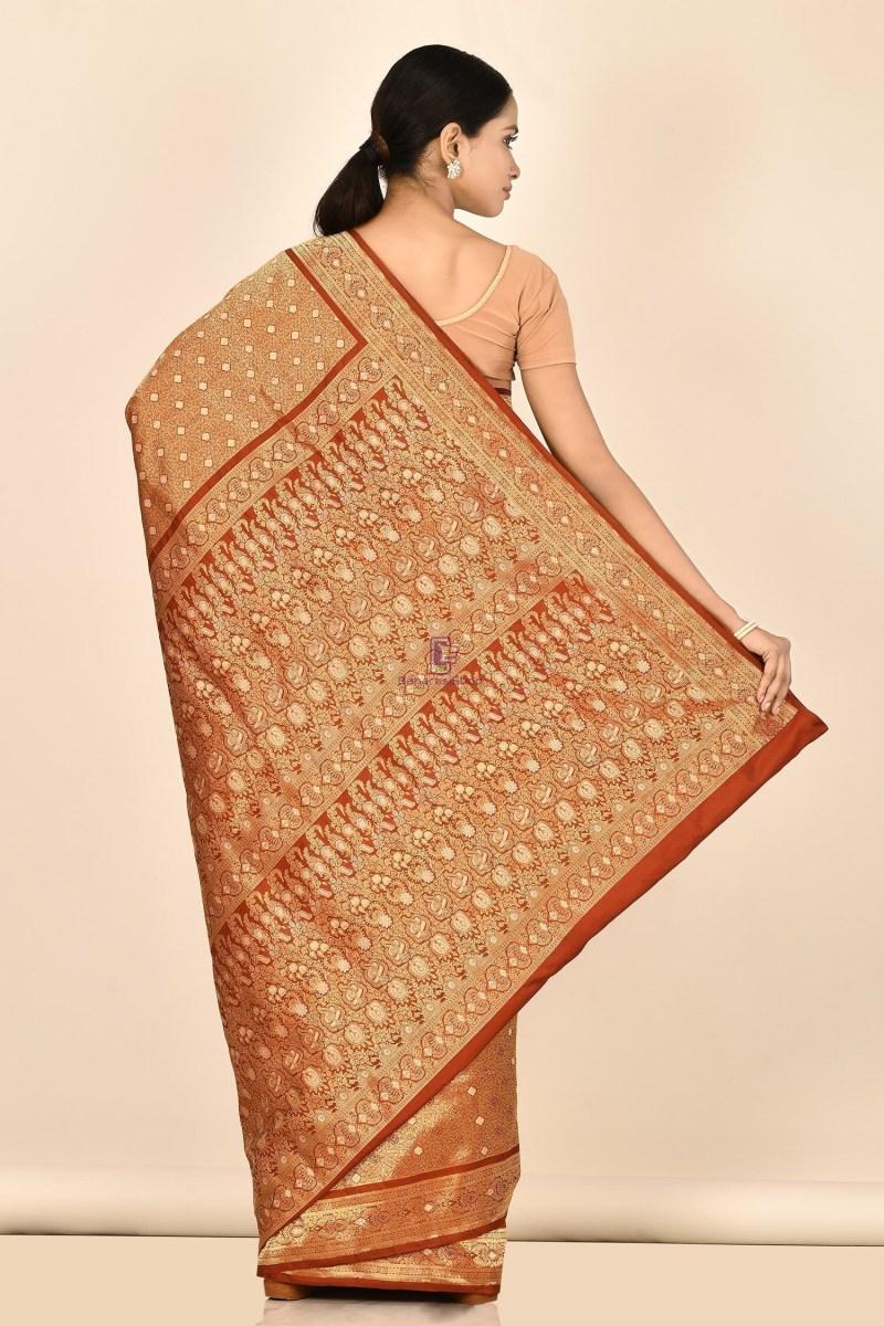 Tanchoi Handloom Banarasi Katan Silk Saree with Running Blouse Fabric 3