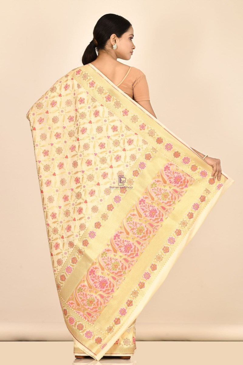 Banarasi Silk Minedar Saree with Running Blouse Fabric 3