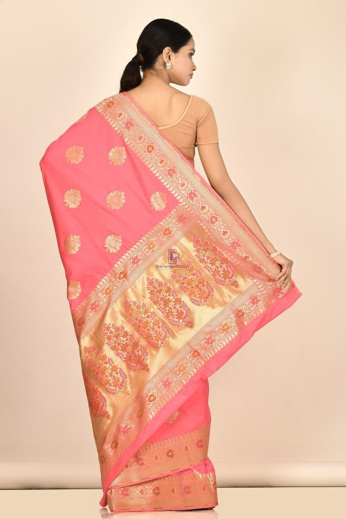 Banarasi Silk Minedar Saree with Running Blouse Fabric 6