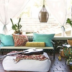 Tropical Sofa Throw Cover Cottage Style Sofas Living Room Furniture 7 Seriously Stunning Outdoor Boho Areas