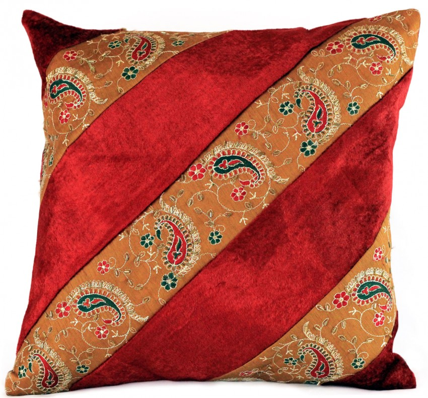 Red Floral Throw Pillows
