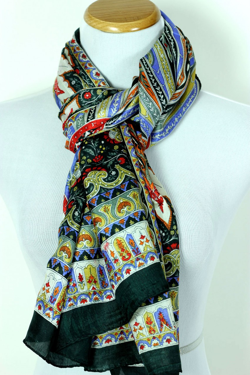 Womens Exotic Silk Scarf Banarsi Designs