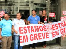 Adesão à greve no Banpará também foi grande na região metropolitana de Belém