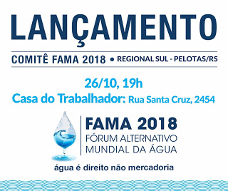 Cartaz lançamento comitê com Pelotas