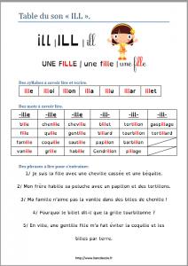 Table de lecture du son ILL