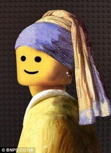 La jeune fille à la perle version Lego(r)