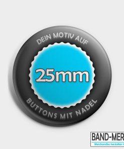 25mm Buttons mit Nadel vorne