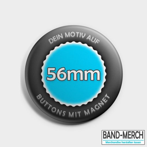 56mm Buttons mit Magnet vorne