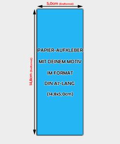 Papier-Aufkleber Din A7-Lang Hochformat