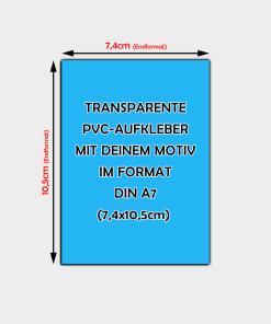 transparente Aufkleber Din A7 Hochformat