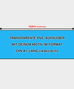transparente Aufkleber Din A7-Lang Querformat