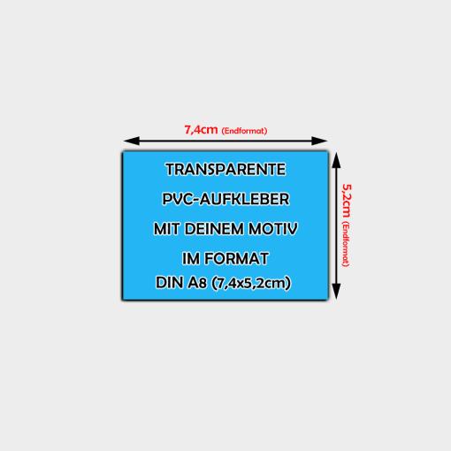 transparente Aufkleber Din A8 Querformat