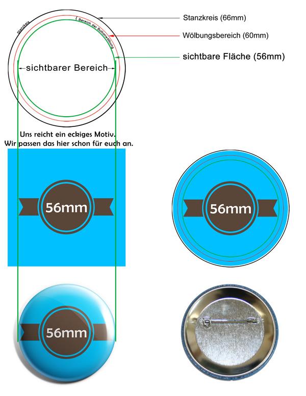 56mm Buttons Vorlage