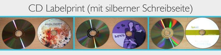 cd labelprint silberne cds