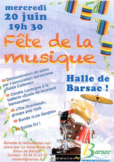 Fête de la musique à Barsac
