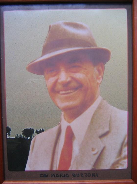 Cav. Mario Buzzoni presidente del Corpo Musicale