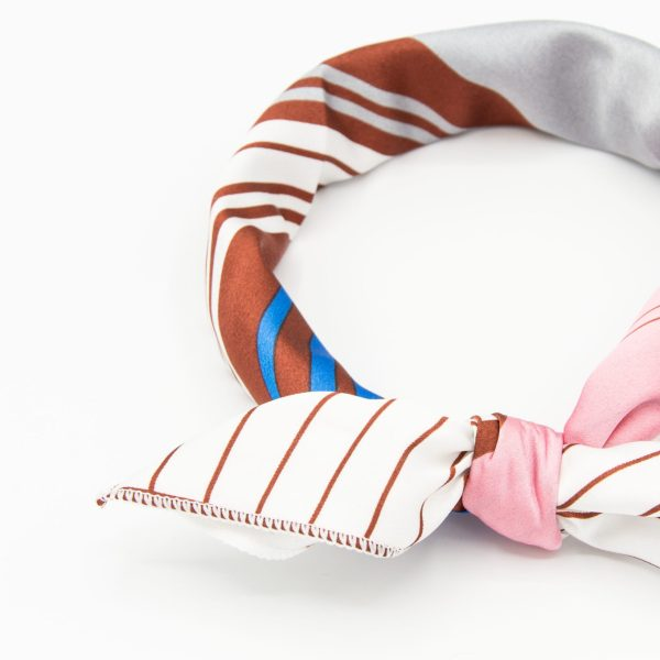 bandana à lignes pour femme