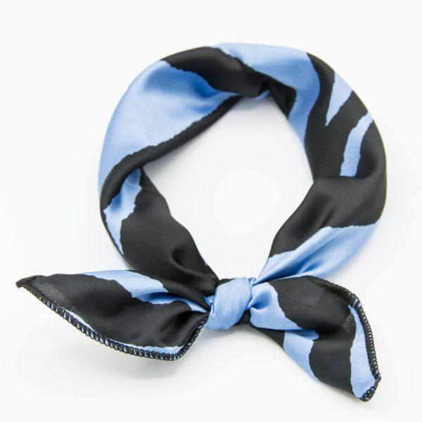bandana femme bleu et noir