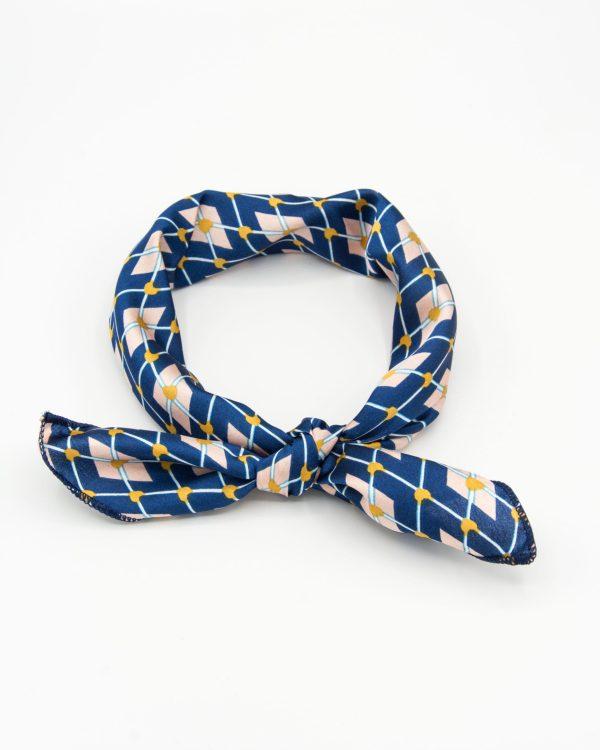 bandana foulard géomtrique bleu