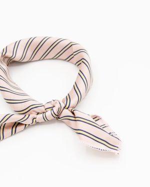 bandana foulard rose à rayures pour femme
