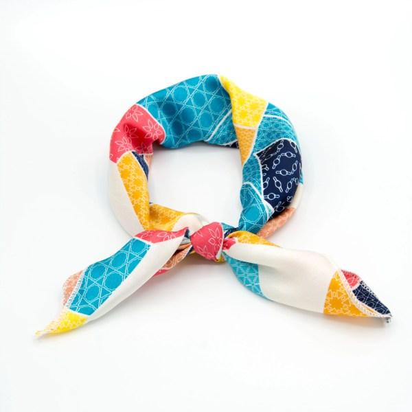 bandana femme géométrique multicolore