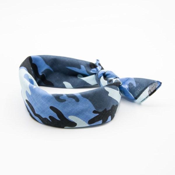 bandana homme et femme militaire bleu camouflage