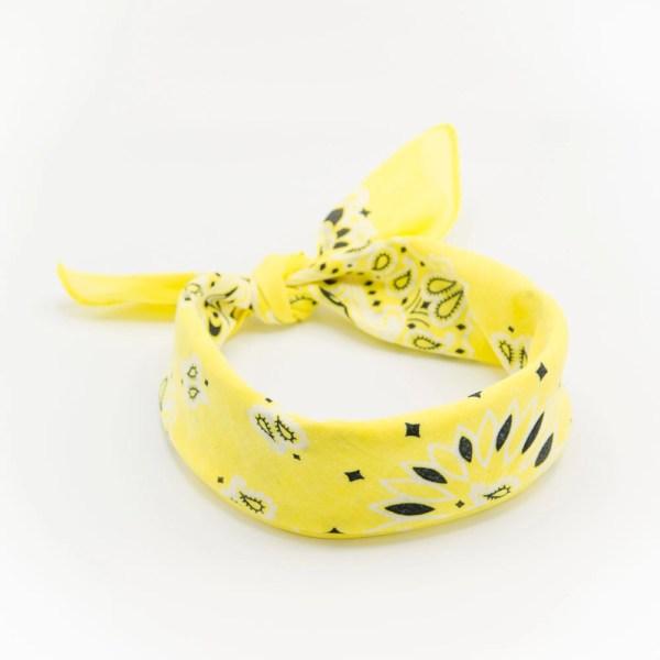 bandana à motif paisley jaune soleil