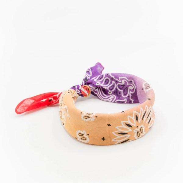 bandana avec dégradé orange et violet