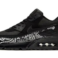 Black Bandana Custom Nike Air Max Shoes Black