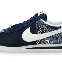 Navy Bandana Custom Nike Cortez Shoes Navy Half