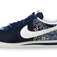 Navy Blue Bandana Custom Nike Cortez Shoes NNW Half