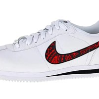 Red Bandana Custom Nike Cortez Shoes LWB Swoosh