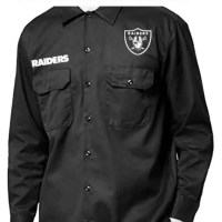 Las Vegas Raiders Custom Dickies Shirt LS Black