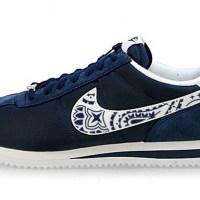 LA Dodgers Mini Navy Blue Bandana Custom Nike Cortez Shoes NNW Outline