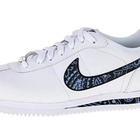 Carolina Blue Bandana Custom Nike Cortez Shoes LWB Swoosh Soles