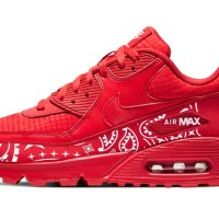 Red Bandana Custom Nike Air Max Shoes Red