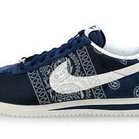 Silver Bandana Teardrops Custom Nike Cortez Shoes NNW Sides