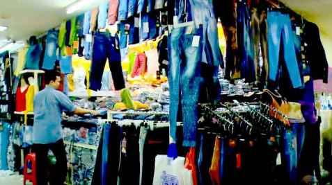 Belanja baju di pasar Andir Bandung