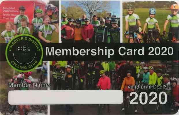 B&DCC Membership Card