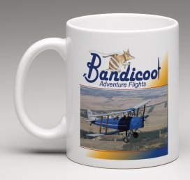 Bandicoot Tiger Moth Mug VH BTH
