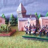 Infanterie allemande (tenue ordinaire, canon de 77, mitrailleuse (tenue _feldgrau_)