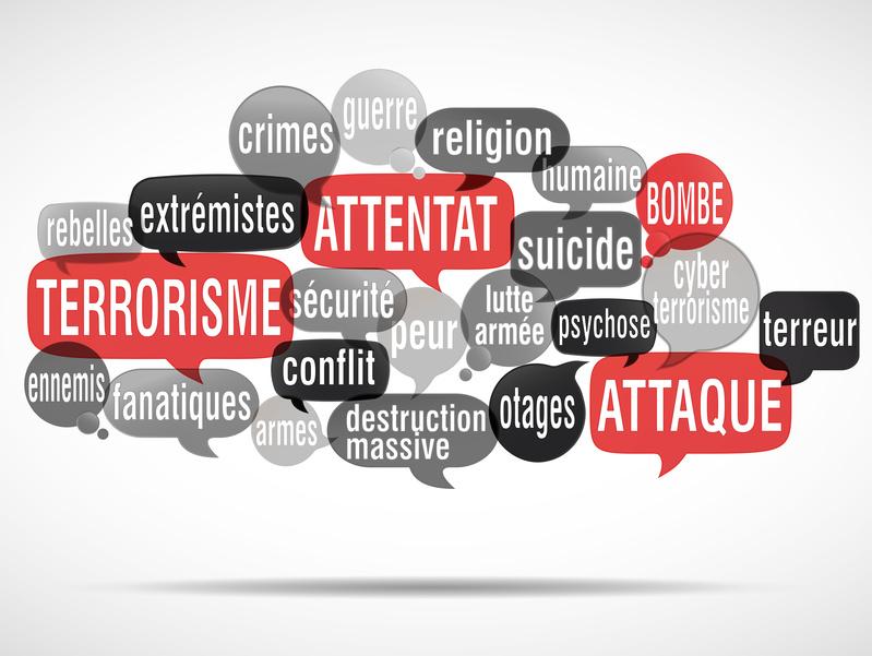 nuage de mots : terrorisme