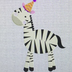 zebra machine embroidery
