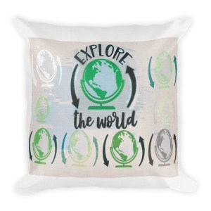 Explore the World Pillow