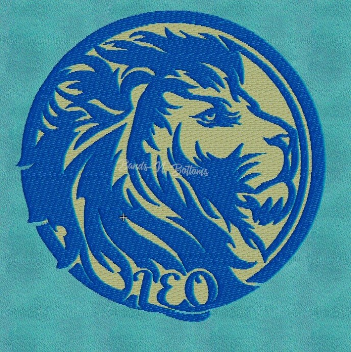 Leo Zodiac Signs Embroidery Subscription