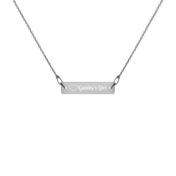 Gatsby's Girl Engraved Sterling Silver Necklace