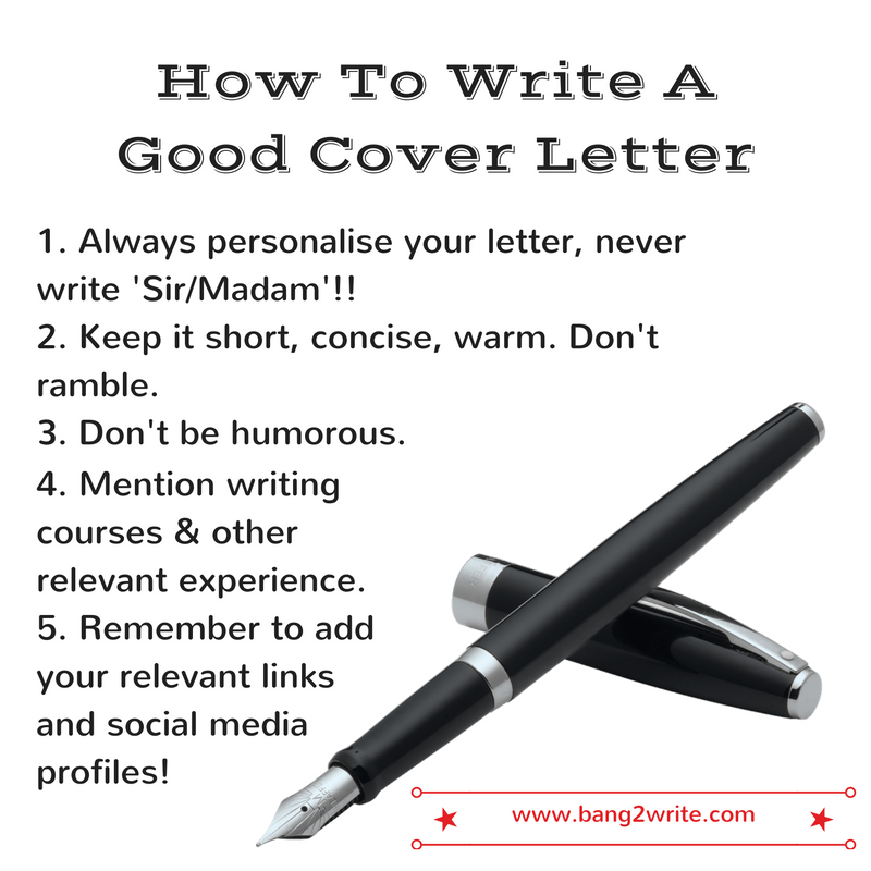 How To Write A Great Cover Letter That Gets Results  Bang2Write