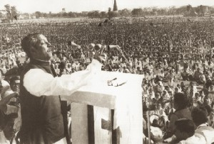 """Ebarer sangram amader shadhinoter sangram""-----The historic address at the Race Course ground, March 7, 1971."
